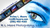 rlmoore photography Business Card Front